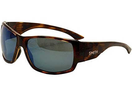 Smith Optics Dockside Lifestyle Polarized Sunglasses, Havana/Chromapop Blue Mirror