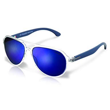 Mulco Flow PT C3 Clear Frame / Blue Lens 48 mm Oval Sunglasses