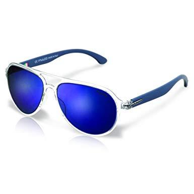 Mulco Flow PT C3 Clear Frame / Blue Lens 48 mm Oval Sunglasses