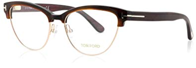 Tom Ford Women's TF5365 Eyeglasses, Havana Brown